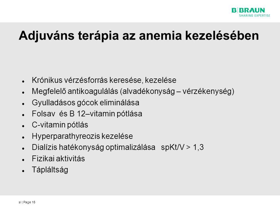 Adjuváns terápia az anemia kezelésében