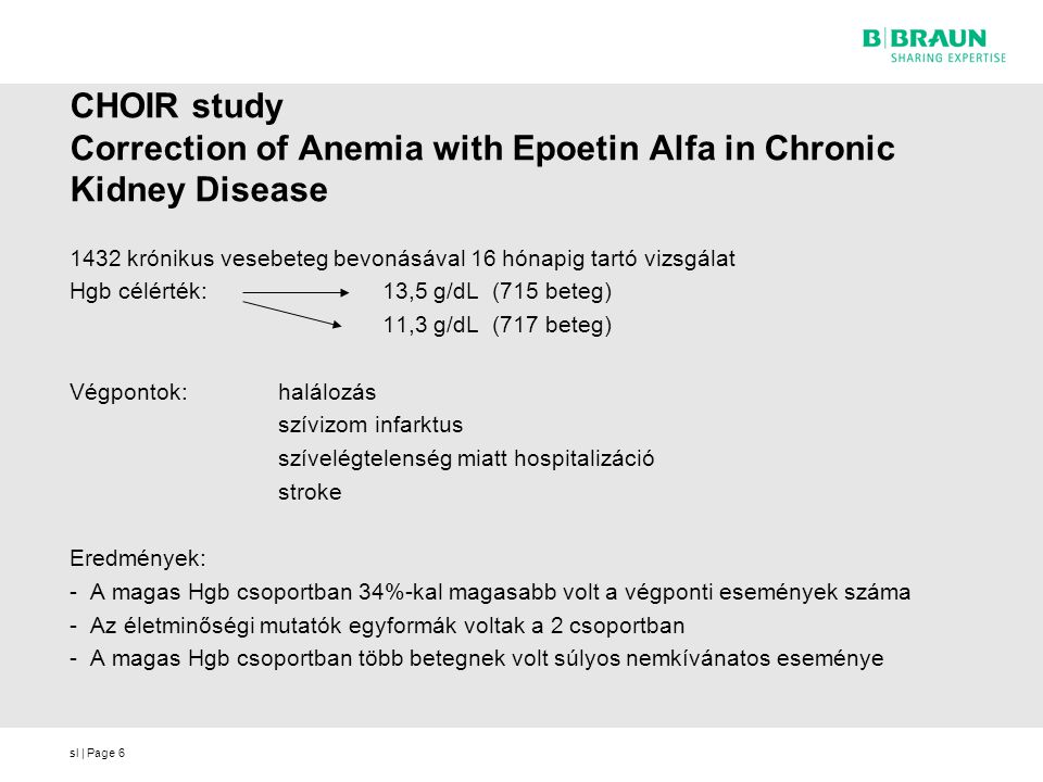 CHOIR study Correction of Anemia with Epoetin Alfa in Chronic Kidney Disease