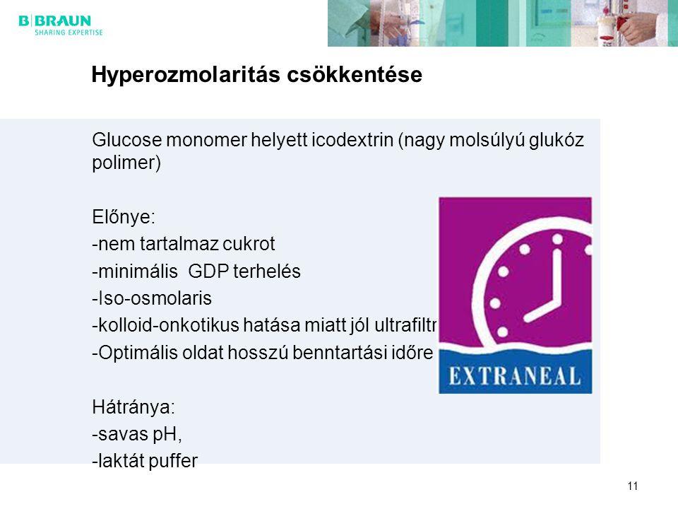 Hyperozmolaritás csökkentése