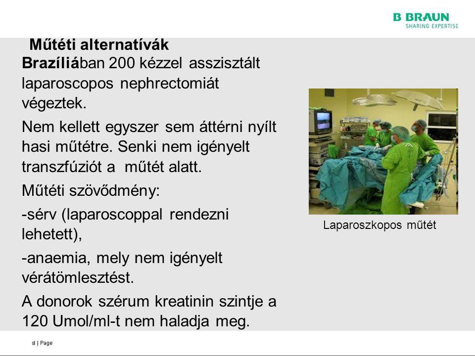 -sérv (laparoscoppal rendezni lehetett),