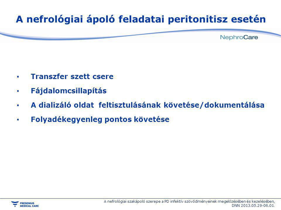A nefrológiai ápoló feladatai peritonitisz esetén