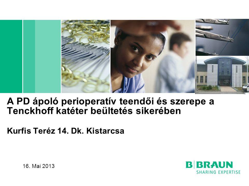 A PD ápoló perioperatív teendői és szerepe a Tenckhoff katéter beültetés sikerében Kurfis Teréz 14. Dk. Kistarcsa