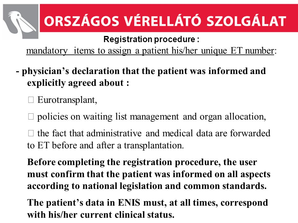  policies on waiting list management and organ allocation,