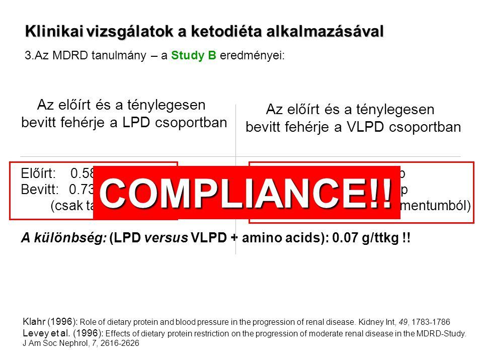 COMPLIANCE!! Klinikai vizsgálatok a ketodiéta alkalmazásával