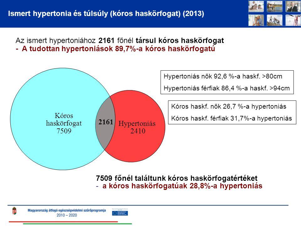 Ismert hypertonia és túlsúly (kóros haskörfogat) (2013)