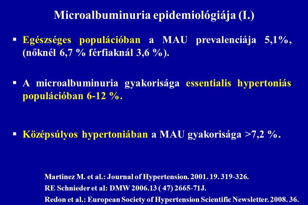 Microalbuminuria epidemiológiája (I.)