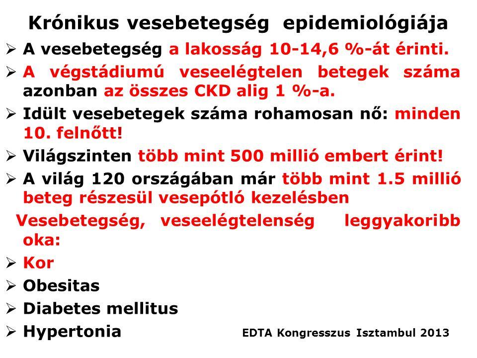 Krónikus vesebetegség epidemiológiája