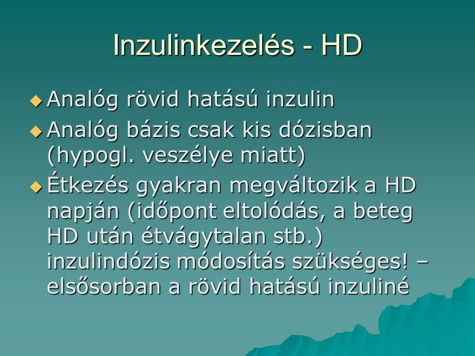 Inzulinkezelés - HD Analóg rövid hatású inzulin
