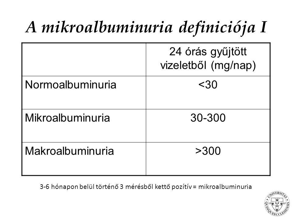 A mikroalbuminuria definiciója I