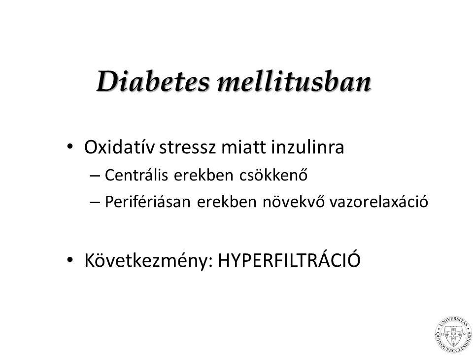 Diabetes mellitusban Oxidatív stressz miatt inzulinra