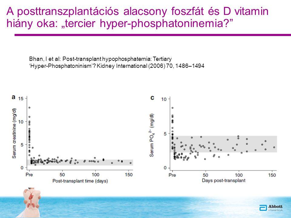 """A posttranszplantációs alacsony foszfát és D vitamin hiány oka: """"tercier hyper-phosphatoninemia"""