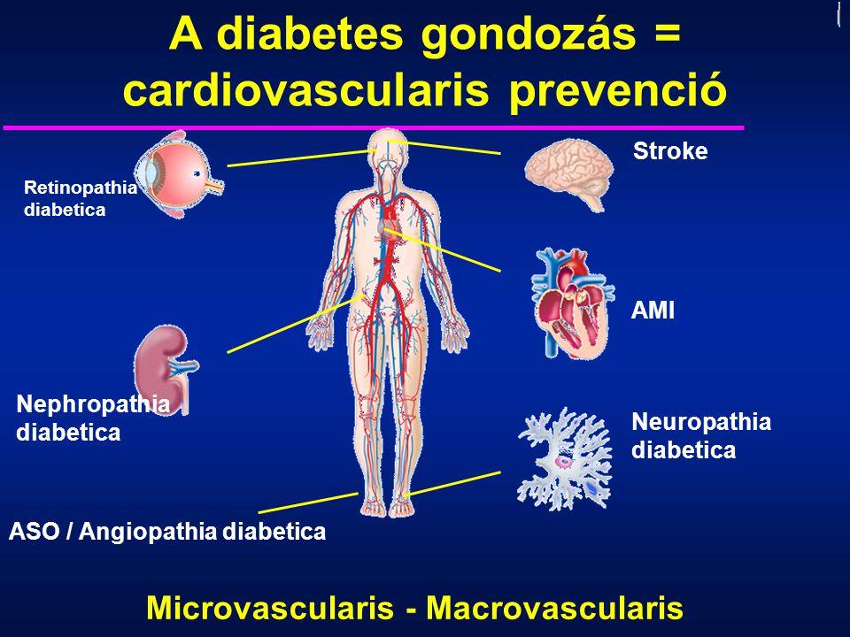 A diabetes gondozás = cardiovascularis prevenció