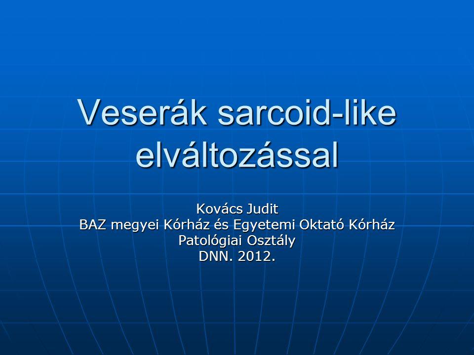 Veserák sarcoid-like elváltozással