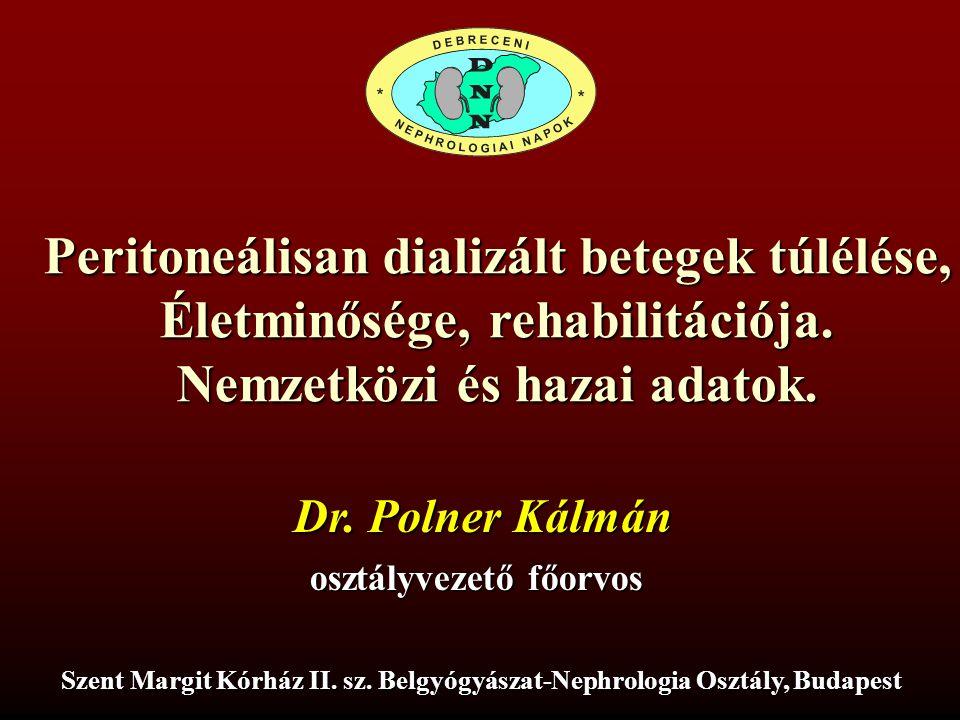 Peritoneálisan dializált betegek túlélése,