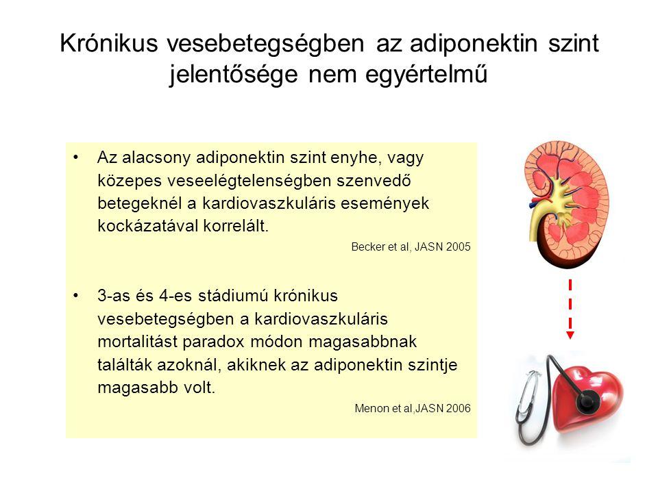 Krónikus vesebetegségben az adiponektin szint jelentősége nem egyértelmű