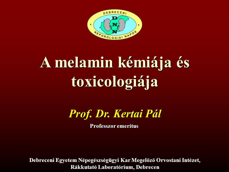 A melamin kémiája és toxicologiája
