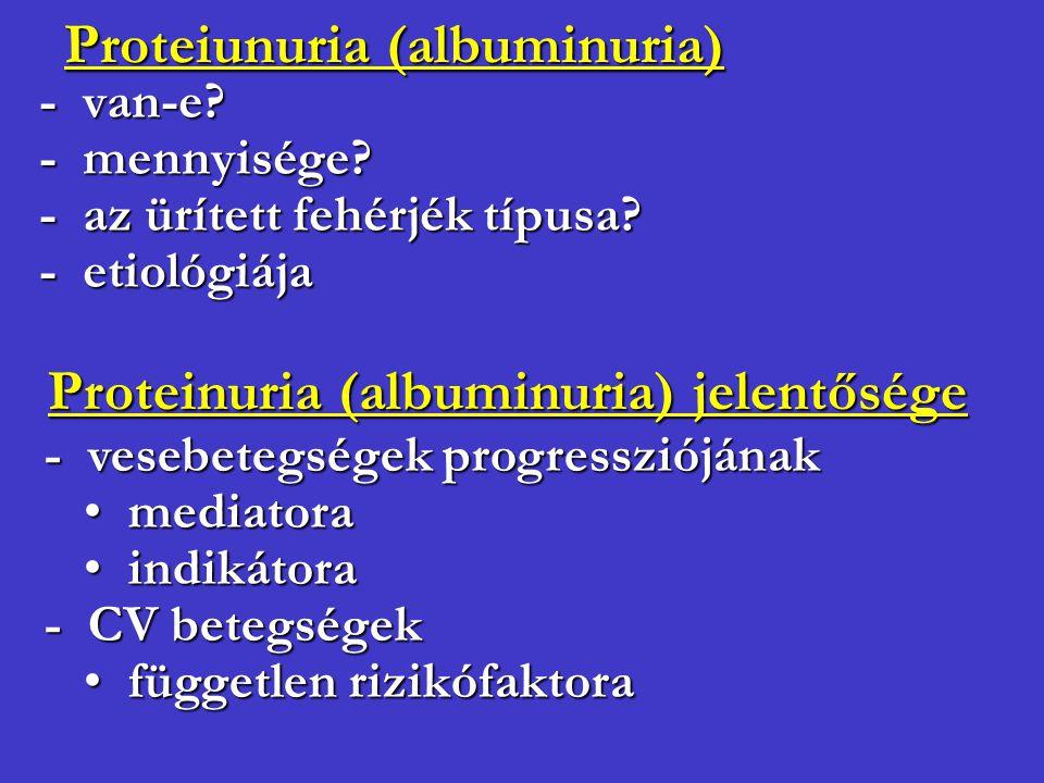 Proteiunuria (albuminuria)