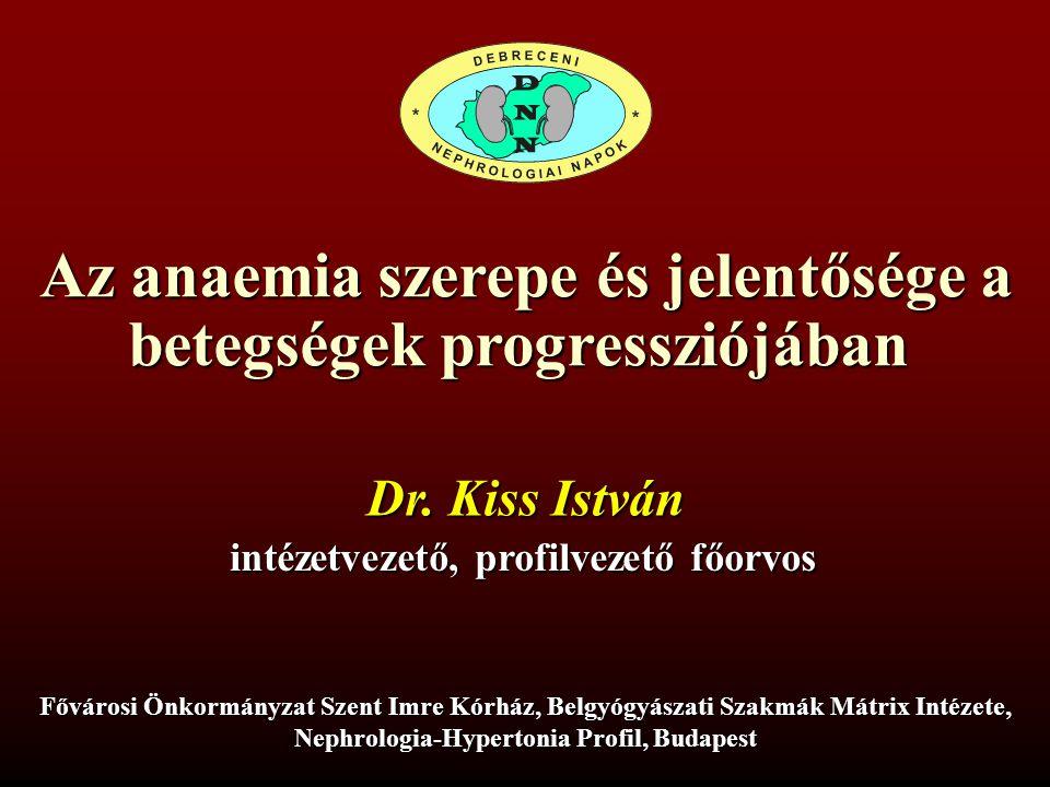 Az anaemia szerepe és jelentősége a betegségek progressziójában