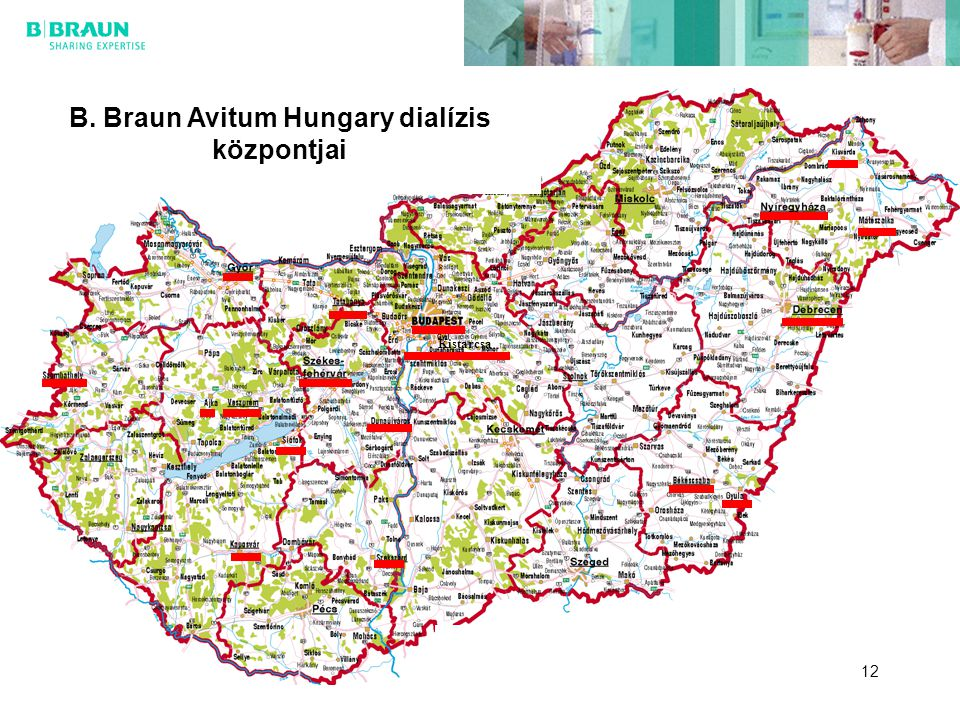 B. Braun Avitum Hungary dialízis központjai