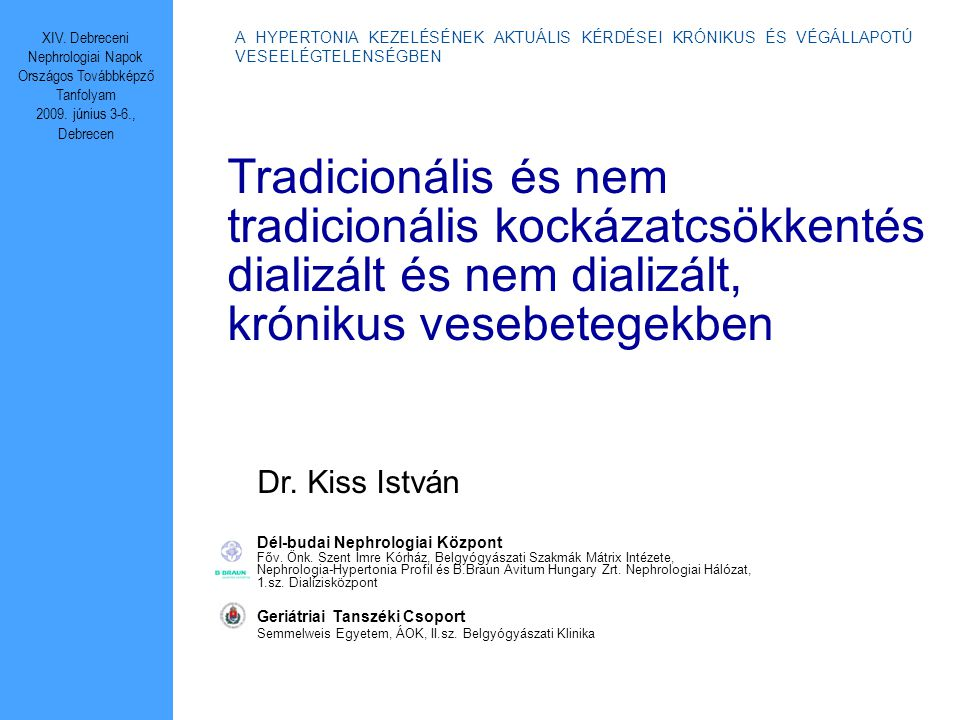 XIV. Debreceni Nephrologiai Napok