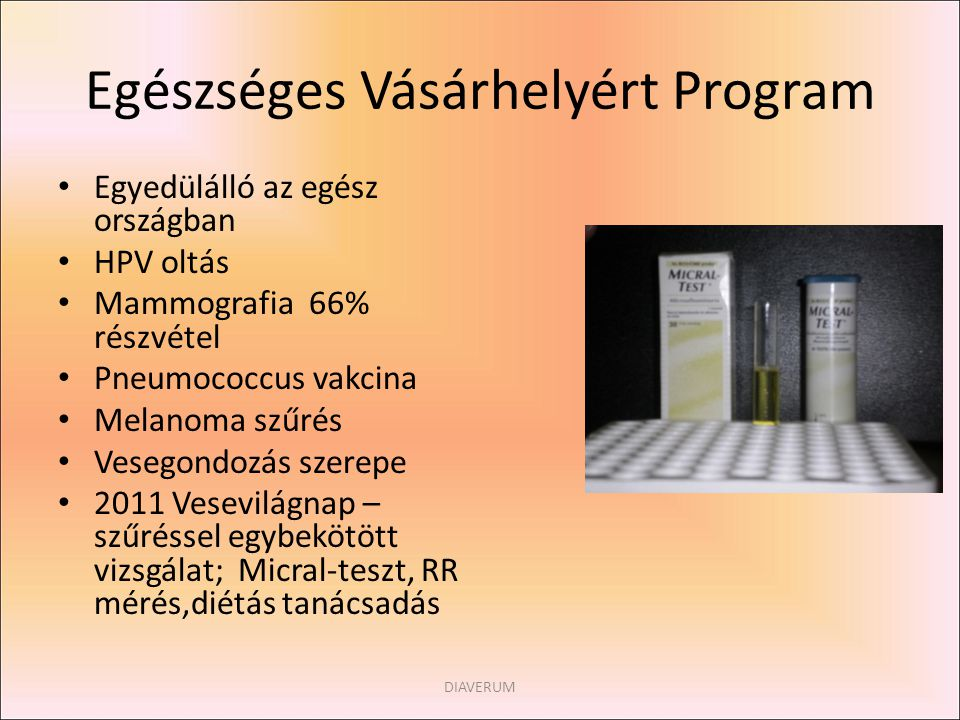 Egészséges Vásárhelyért Program