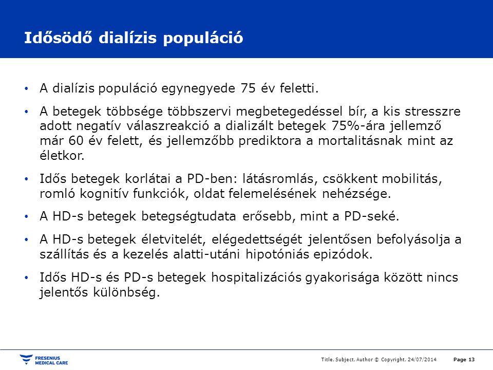 Idősödő dialízis populáció