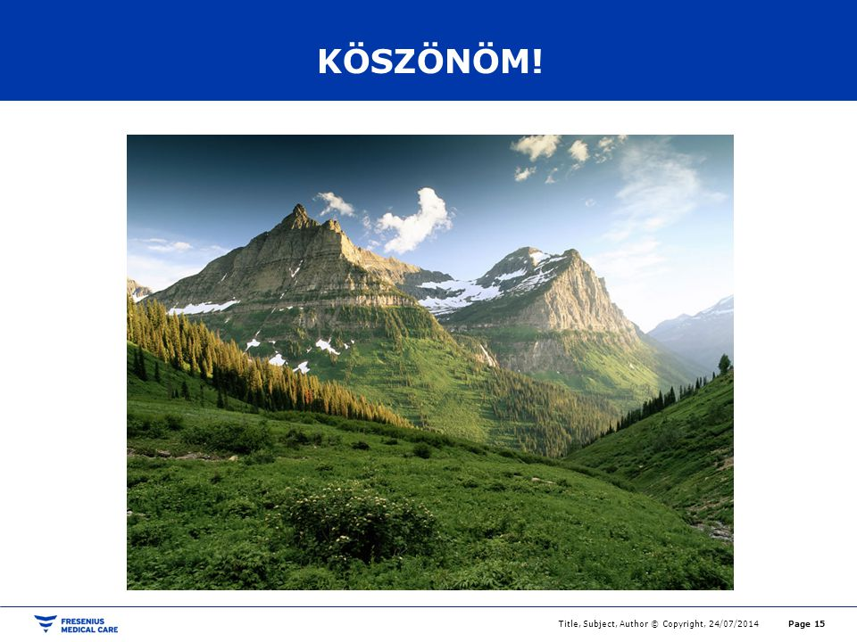 KÖSZÖNÖM! Title, Subject, Author © Copyright, 04/04/2017