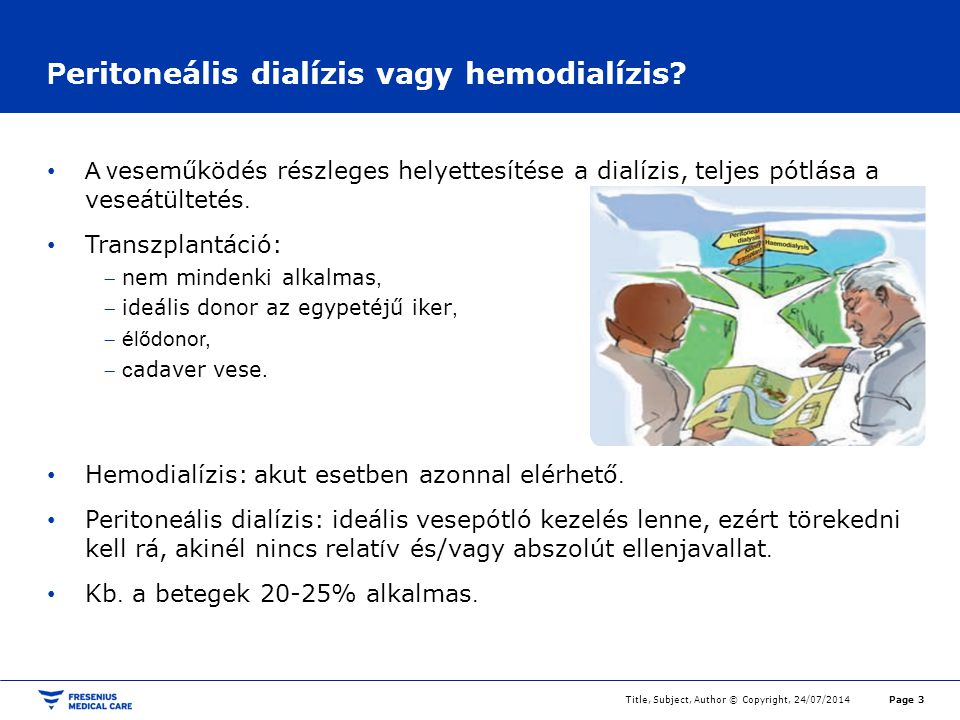 Peritoneális dialízis vagy hemodialízis