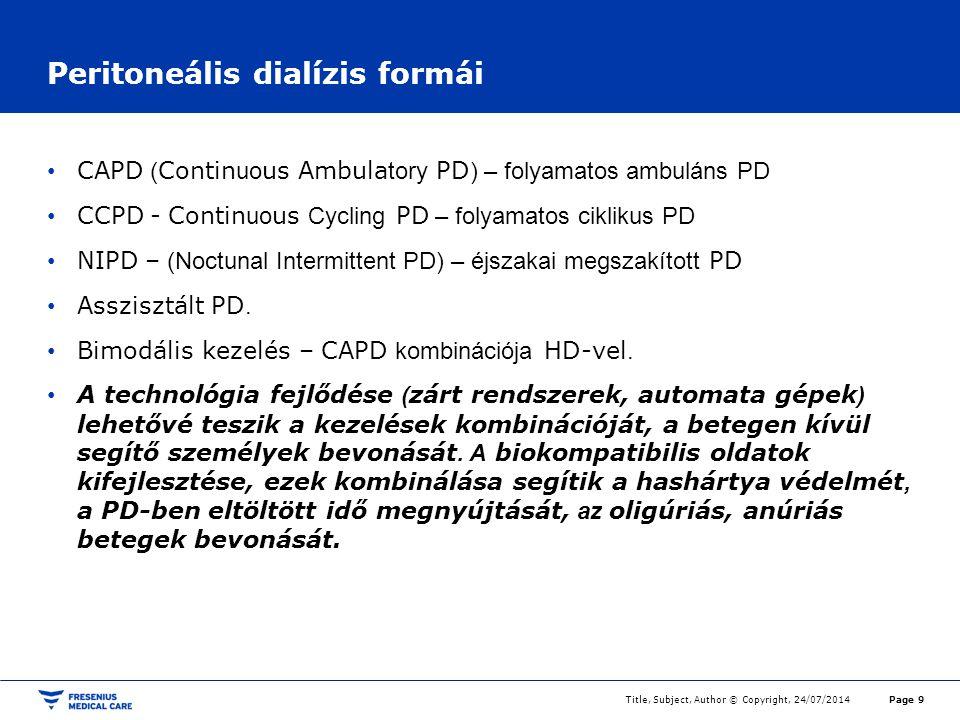 Peritoneális dialízis formái