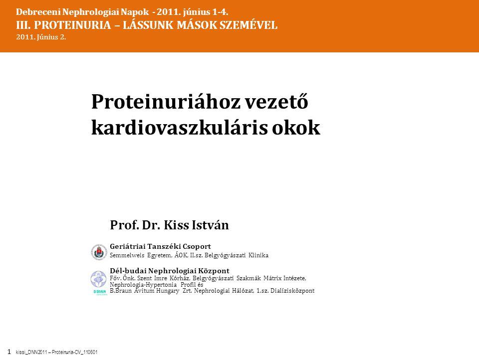 Proteinuriához vezető kardiovaszkuláris okok