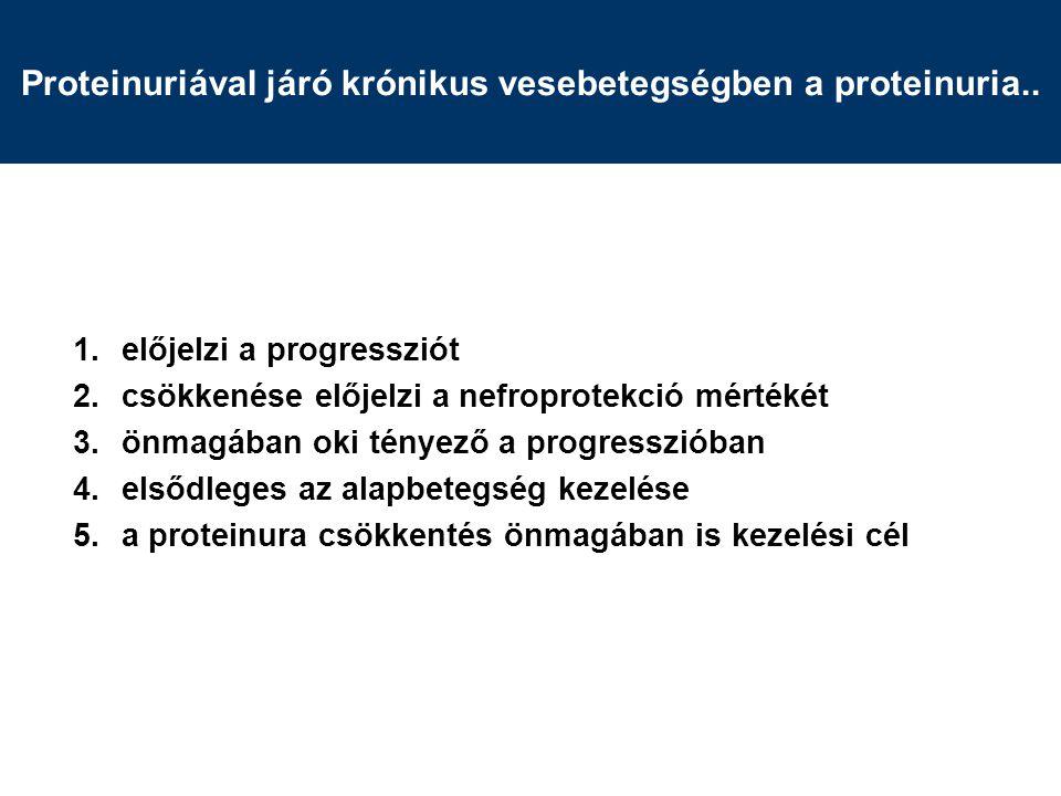Proteinuriával járó krónikus vesebetegségben a proteinuria..