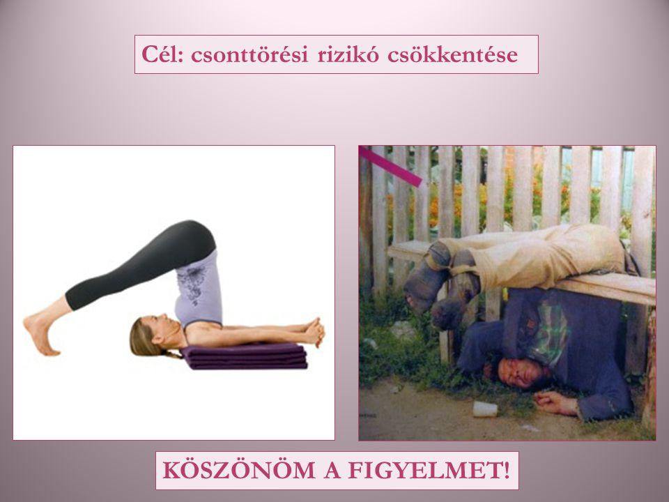 Cél: csonttörési rizikó csökkentése