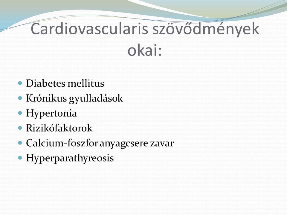 Cardiovascularis szövődmények okai: