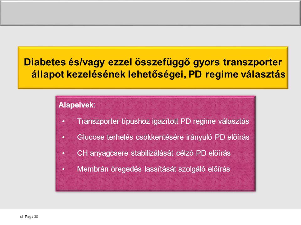 Diabetes és/vagy ezzel összefüggő gyors transzporter állapot kezelésének lehetőségei, PD regime választás