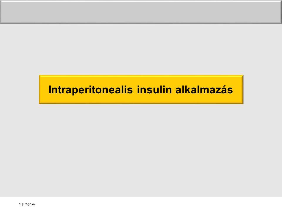 Intraperitonealis insulin alkalmazás