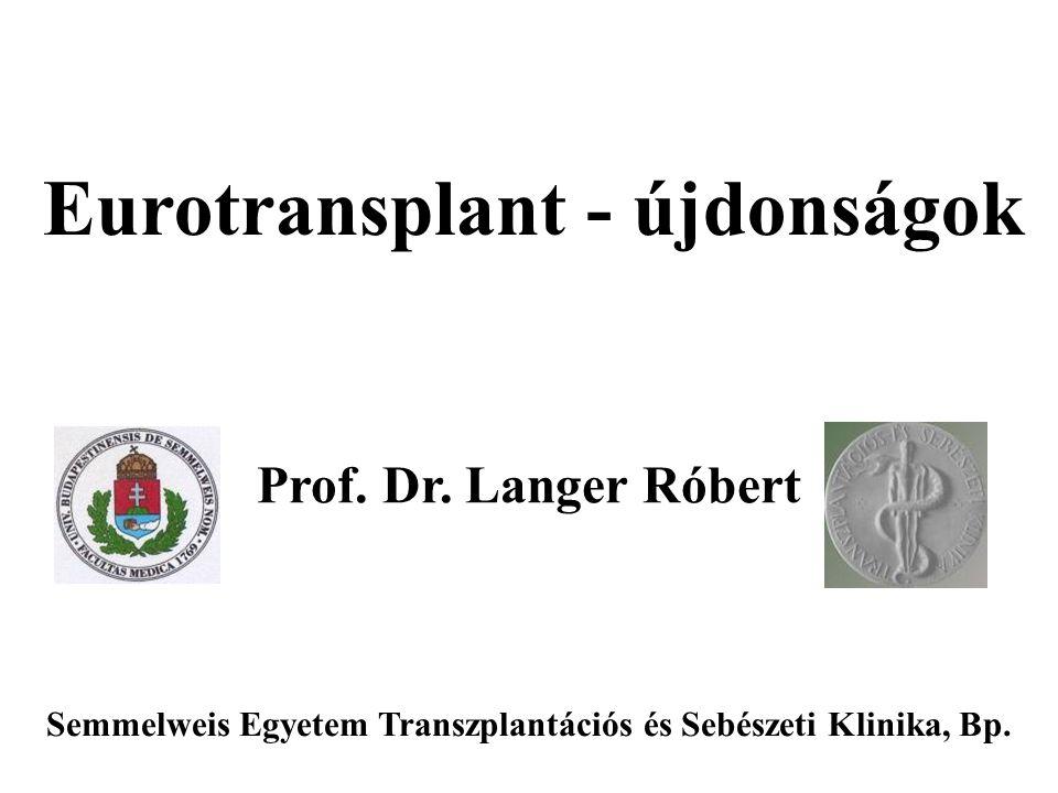Eurotransplant - újdonságok