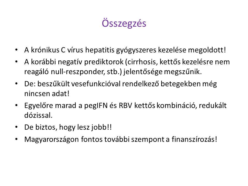Összegzés A krónikus C vírus hepatitis gyógyszeres kezelése megoldott!