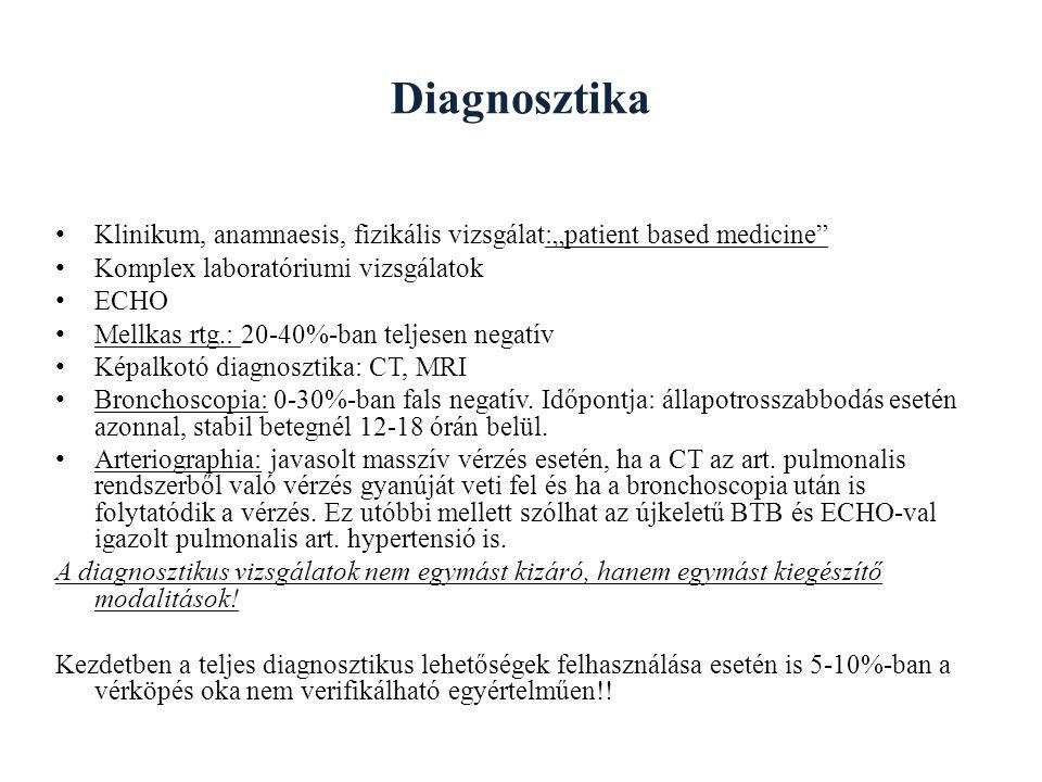 "Diagnosztika Klinikum, anamnaesis, fizikális vizsgálat:""patient based medicine Komplex laboratóriumi vizsgálatok."
