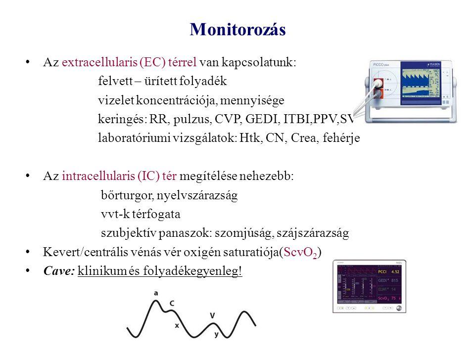 Monitorozás Az extracellularis (EC) térrel van kapcsolatunk: