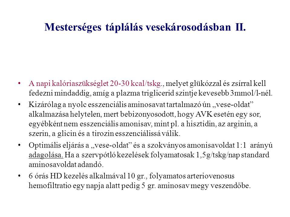 Mesterséges táplálás vesekárosodásban II.