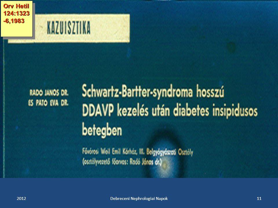Debreceni Nephrologiai Napok