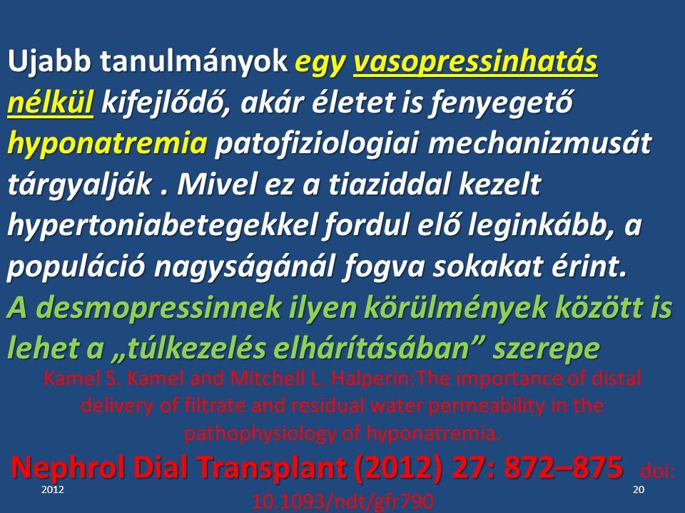Nephrol Dial Transplant (2012) 27: 872–875 doi: 10.1093/ndt/gfr790