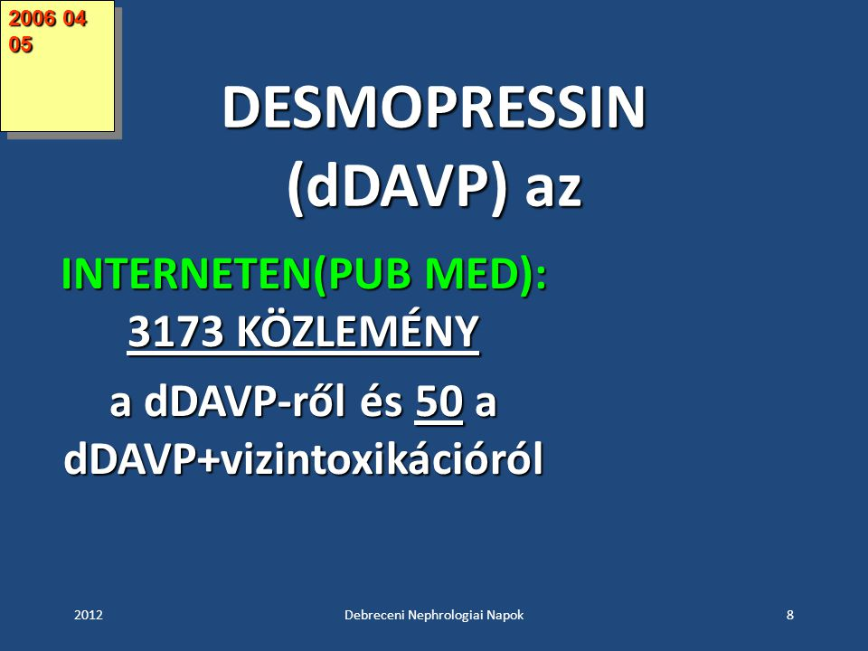 DESMOPRESSIN (dDAVP) az