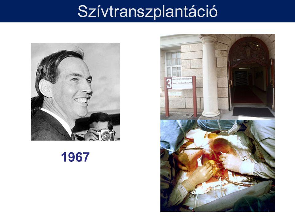 Szívtranszplantáció 1967 1992