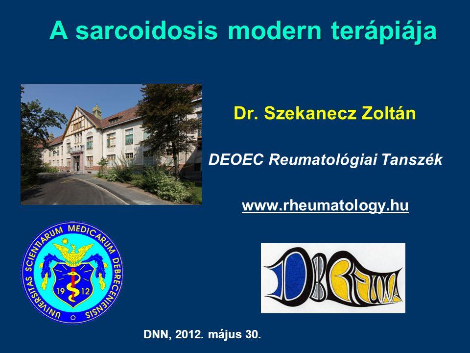 A sarcoidosis modern terápiája