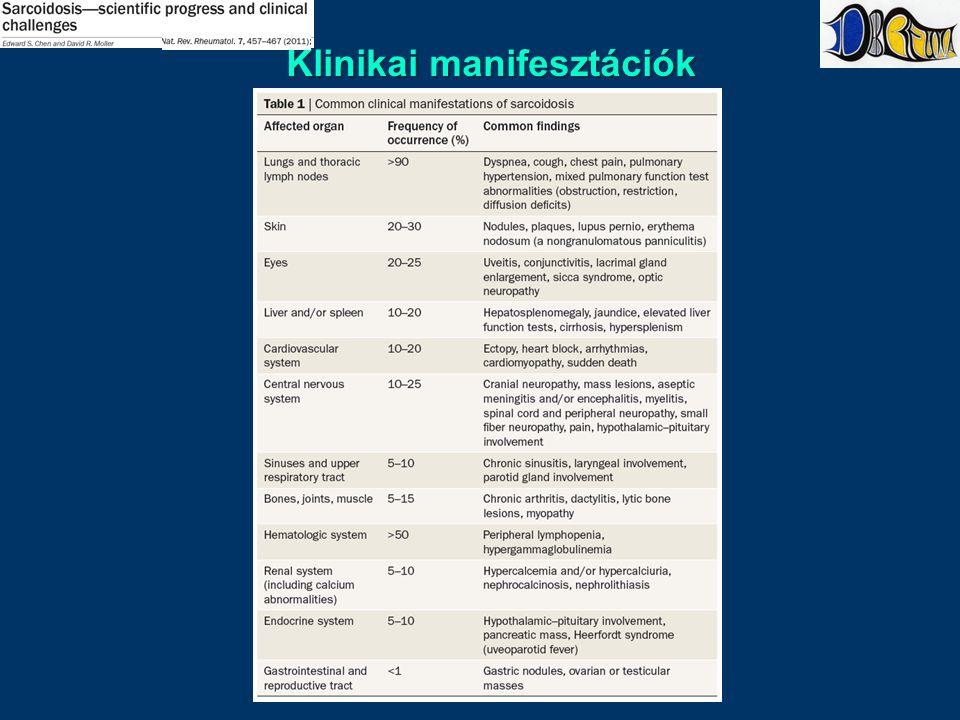 Klinikai manifesztációk