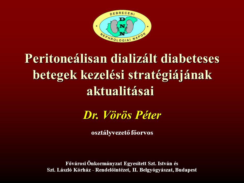 Peritoneálisan dializált diabeteses betegek kezelési stratégiájának