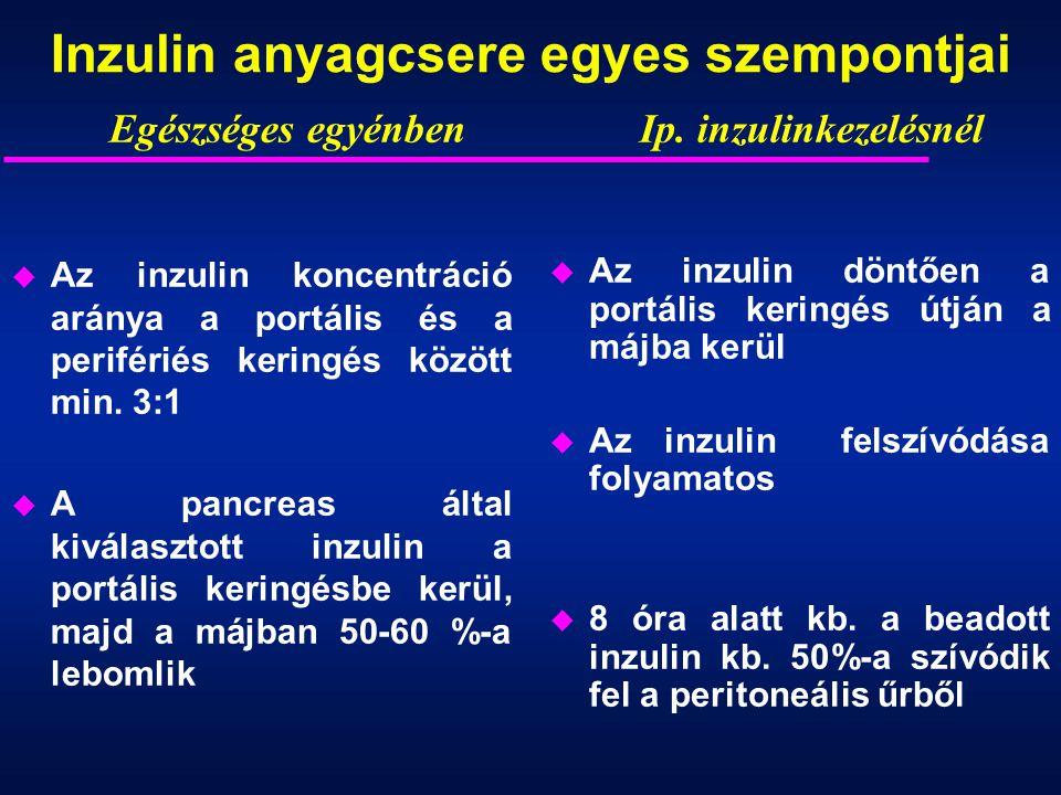Inzulin anyagcsere egyes szempontjai
