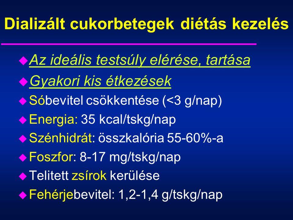 Dializált cukorbetegek diétás kezelés