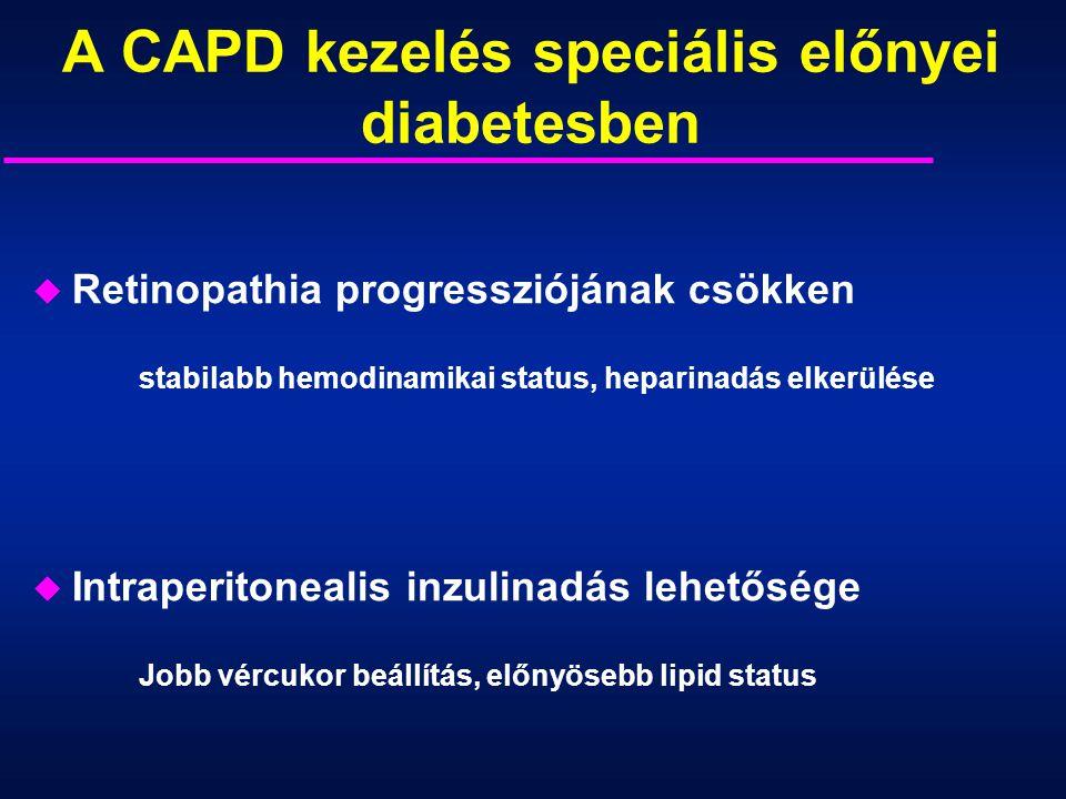 A CAPD kezelés speciális előnyei diabetesben